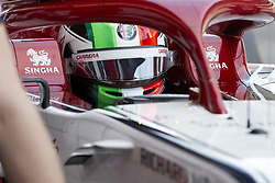 February 26, 2019 - Spain - Antonio Giovinazzi (Alfa Romeo Sauber F1 Team) C38 car, seen in action during the winter testing days at the Circuit de Catalunya in Montmelo  (Credit Image: © Fernando Pidal/SOPA Images via ZUMA Wire)