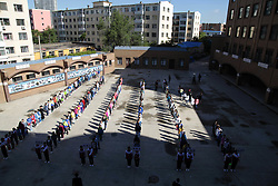 June 12, 2017 - Jilin, Jilin, China - Jilin, CHINA-June 12 2017: (EDITORIAL USE ONLY. CHINA OUT) ..Students wait in a long line to attend the entrance exam of a middle school in Jilin, northeast China, June 12th, 2017. (Credit Image: © SIPA Asia via ZUMA Wire)