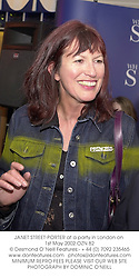 JANET STREET-PORTER at a party in London on 1st May 2002.OZN 82