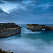 Dawn at London Bridge. Port Campbell Coastal Park on the Great Ocean Road