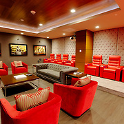 Lounge at One Light Tower, residential highrise building completed in 2015 in downtown Kansas City, Missouri.