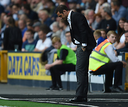 Derby County manager Frank Lampard on the touchline