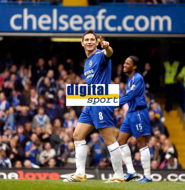 Photo: Alan Crowhurst.<br />Chelsea v Manchester City. The Barclays Premiership. 25/03/2006. Chelsea's Frank Lampard disagrees with the linesman.