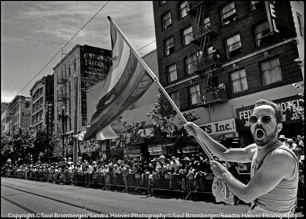 We photographed the 'San Francisco Gay Parade' from 1984–1990, and recognized that given our skills and interests in telling a story thru a documentary photo essay, we could and should document the gay community fighting for its civil rights, for equality, for understanding and awareness, and for coming together as a community - and this became our project's focus.<br /> <br /> We were after three objectives -- to create a photo essay that would capture the love and commitment that we observed again and again by couples and by the community organizations; to create a moving and heartfelt portrait of the gay community through this annual parade; and to create a historical archive of what it was like when gays and lesbians had the courage to march peacefully on Market Street and in the Castro District, demanding their equal rights.