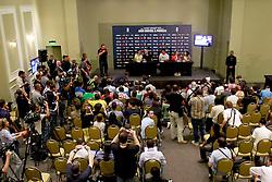Conferência de imprensa no Sheraton Porto Alegre Hotel sobre a 10ª edição do Jogo Contra a Pobreza - Match Against Poverty. FOTO: Itamar Aguiar/Preview.com