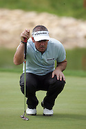 Paul McGinley lines up his putt on the 17th hole in the Open de Espana in Madrid..Photo NEWSFILE/Eoin Clarke.(Photo credit should read Eoin Clarke/NEWSFILE)....This Picture has been sent you under the condtions enclosed by:.Newsfile Ltd..The Studio,.Millmount Abbey,.Drogheda,.Co Meath..Ireland..Tel: +353(0)41-9871240.Fax: +353(0)41-9871260.GSM: +353(0)86-2500958.email: pictures@newsfile.ie.www.newsfile.ie.FTP: 193.120.102.198..