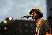 August 23, 2015- Brooklyn, NY-United States: Recording Artist Gary Clarke Jr. performs at the 2015 AFROPUNK Festival on August 23, 2015 held at Commodore Barry Park in Brooklyn, New York City.  AFROPUNK is an influential community of young, gifted people of all backgrounds who speak through music, art, film, comedy, fashion and more. Originating with the 2003 documentary that highlighted a Black presence in the American punk scene, it is a platform for the alternative and experimental.  (Terrence Jennings/terrencejennigs.com)