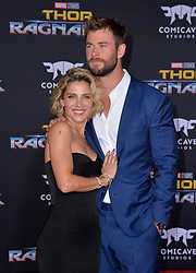 Chris Hemsworth and Elsa Pataky attend the premiere of Disney and Marvel's 'Thor: Ragnarok' at El Capitan Theatre on October 10, 2017 in Los Angeles, California. Photo by Lionel Hahn/AbacaPress.com