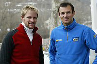 Motor<br /> Foto: Dppi/Digitalsport<br /> NORWAY ONLY<br /> <br /> AUTO - WRC 2005 - MONTE CARLO RALLY - MONACO 23/01/2005<br /> <br /> PETTER SOLBERG (NOR) / SUBARU IMPREZA WRC - AMBIANCE - PORTRAIT<br /> STEPHANE SARRAZIN (FRA) / SUBARU IMPREZA WRC - AMBIANCE - PORTRAIT