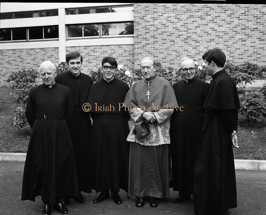 Ordinations at St Patrick's College, Drumcondra.<br /> 1970.<br /> 28.05.1970.<br /> 05.28.1970.<br /> 28th May 1970.<br /> The ordination of priests to the Vincentian Order of priests took place today at St Particks College, Drumcondra. The ceremony was officiated by His Grace,J McQuaid, Archbishop of Dublin.<br /> <br /> Image shows three of the newly ordained priests (L-R), Rev Fergus Kelly, Rev Patrick McCrohan and Rev Kieran McGovern all from Clontarf in Dublin.