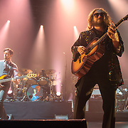 TOM BLANKENSHIP, PATRICK HALLAHAN and JIM JAMES of My Morning Jacket perform at Merriweather Post Pavilion in Columbia, MD.(Photo by Kyle Gustafson)