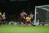 Photo: Marc Atkins.<br /> Watford v Sheffield United. The Barclays Premiership. 28/11/2006. Danny Webber scores Sheffield Utd's 1st of the game.