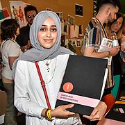 Shaheena Umerji is a BA (Hons) Fashion Designer of University of Hertfordshire exhibition at the Graduate Fashion Week 2019 - Day One Exhibitions on 2 June 2019, London, UK.