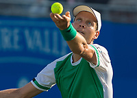 Tennis - 2017 Aegon Championships [Queen's Club Championship] - Day Three, Wednesday<br /> <br /> Men's Singles: Round of 16 _ Tomas Berdych (CZE) Vs Denis Shapovalov (CAN)<br /> <br /> Tomas Berdych (CZE) serves at Queens Club<br /> <br /> COLORSPORT/DANIEL BEARHAM