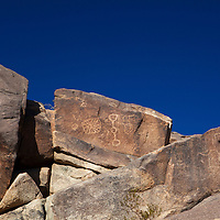 USA, California, Joshua Tree. Coyote Hole petroglyphs near Joshua Tree.