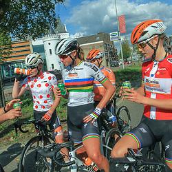 31-08-2018: Wielrennen: Ladies Tour: Weert<br />Anna van der Breggen, Chantal Blaak, Amalie Dideriksen