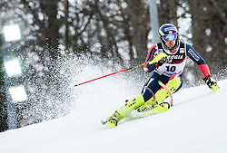 """Dave Ryding (GBR) competes during 1st Run of FIS Alpine Ski World Cup 2017/18 Men's Slalom race named """"Snow Queen Trophy 2018"""", on January 4, 2018 in Course Crveni Spust at Sljeme hill, Zagreb, Croatia. Photo by Vid Ponikvar / Sportida"""