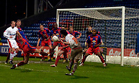 Photo: Alan Crowhurst.<br />Crystal Palace v Swindon Town. The FA Cup. 06/01/2007. Swindon's Michael Timlin misses a great chance late on.