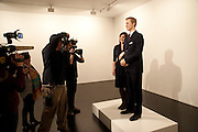 VICTORIA MURPHY; PRINCE WILLIAM WAXWORK, 'Engagement' exhibition of work by Jennifer Rubell. Stephen Friedman Gallery. London. 7 February 2011. -DO NOT ARCHIVE-© Copyright Photograph by Dafydd Jones. 248 Clapham Rd. London SW9 0PZ. Tel 0207 820 0771. www.dafjones.com.