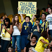 More than 41,000 women and children filled Sukru Saracoglu Stadium to watch Fenerbahce play against Manisapor in Turkish League soccer match in Istanbul, Turkey, Tuesday, Sept. 20. 2011. Turkey came up with a radical solution for tackling crowd violence at football matches ban the men and let only women and children in. Under new rules approved by Turkey's football association, only women and children under the age of 12 will be admitted to watch games for free involving teams which have been sanctioned for unruly behavior by their fans. Fenerbahce was ordered to play two home matches without any spectators after its fans invaded the pitch during a friendly against Ukrainian champion Shakhtar Donetsk. Photo by TURKPIX