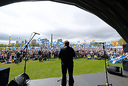 All Under One Banner March For Independence, Glasgow, Saturday 5th May 2018<br /> <br /> Thousands of people joined a march in support of Scottish Independence today in Glasgow.<br /> <br /> There were flags of many countries represented.<br /> <br /> Tommy Sheppard MP addresses the huge crowd<br /> <br /> Alex Todd | EEm