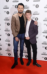 Rylan Clark-Neal and Matt Edmondson arriving at the BBC Radio 1 Teen Awards, held at the SSE Wembley Arena, London.<br /> <br /> Picture date: Sunday, 23 October, 2016. Photo credit should: Doug PetersEMPICS Entertainment