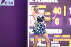 October 8, 2018 - Tianjin, Tianjin, China - Tianjin,CHINA-Professional tennis player Karolina Pliskova defeats Varvara Lepchenko 2-1 at 2018 Tianjin Open in north China's Tianjin, October 8th, 2018. (Credit Image: © SIPA Asia via ZUMA Wire)