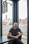 DENVER, CO - SEPTEMBER 17: Jerrod Rosen, owner of Rye Society, at the Jewish deli in Denver, Colorado on September 17, 2018. Rosen recently opened the deli, which features family recipes such as his mother's matzo ball soup and his aunt's rugelach. (Photo by Nick Cote for The Washington Post)