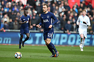 Christian Eriksen of Tottenham Hotspur in action. The Emirates FA Cup, quarter-final match, Swansea city v Tottenham Hotspur at the Liberty Stadium in Swansea, South Wales on Saturday 17th March 2018.<br /> pic by  Andrew Orchard, Andrew Orchard sports photography.