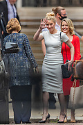 "US actress Amber Heard leaves the High Court in London on Monday, July 27, 2020. She attended a hearing in Johnny Depp's libel case against the publishers of The Sun and its executive editor, Dan Wootton.<br /> 57-year-old Depp is suing the tabloid's publisher News Group Newspapers (NGN) over an article which called him a ""wife-beater"" and referred to ""overwhelming evidence"" he attacked Ms Heard, 34, during their relationship, which he strenuously denies. (VXP Photo/ Vudi Xhymshiti)"