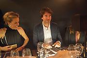 EVA HERZIGOVA; ANTOINE ARNAULT; Dinner to celebrate the opening of the first Berluti lifestyle store hosted by Antoine Arnault and Marigay Mckee. Harrods. London. 5 September 2012.
