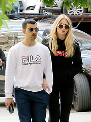 May 9, 2017 - New York, New York, United States - Singer Joe Jonas and his girlfriend actress Sophie Turner went out for drinks at a cafe in the East Village on May 9 2017 in New York City  (Credit Image: © Zelig Shaul/Ace Pictures via ZUMA Press)