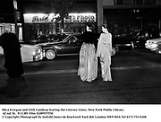 Mica Ertegun and Irith Landeau leaving the Literary Lions. New York Public Library. 42 nd. St.  9/11/89. Film DJ89557f30<br /> © Copyright Photograph by Dafydd Jones<br /> 66 Stockwell Park Rd. London SW9 0DA<br /> Tel 0171 733 0108