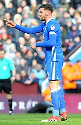 Harlee Dean of Birmingham City gives orders - Mandatory by-line: Nizaam Jones/JMP - 11/02/2018 - FOOTBALL - Villa Park - Birmingham, England - Aston Villa v Birmingham City - Sky Bet Championship