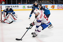 Mats Rosseli Olsen of Norway during the 2017 IIHF Men's World Championship group B Ice hockey match between National Teams of Norway and Finland, on May 13, 2017 in AccorHotels Arena in Paris, France. Photo by Vid Ponikvar / Sportida