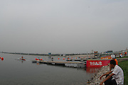 Beijing, CHINA.  GV's Start Area, Start Tower, pontoons , at  the  2007. FISA Junior World Rowing Championships,  Shunyi Water Sports Complex. 10/08/2007 [Photo, Peter Spurrier/Intersport-images]..... , Rowing Course, Shun Yi Water Complex, Beijing, CHINA,