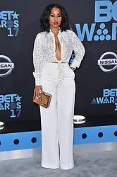 Tammy Rivera at the 2017 BET Awards held at Microsoft Theater on June 25, 2017 in Los Angeles, CA, USA (Photo by Sthanlee B. Mirador) *** Please Use Credit from Credit Field ***
