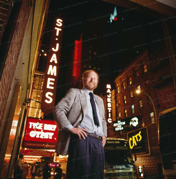 Broadway producer and high-stakes gambler, Rocco Landsman outs the theater he owns, The St. James Theater on Broadway in Manhattan.