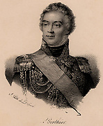 Alexandre Berthier (1753-1815). Prince of Neuchatel and Wagram. French soldier, Marshal of France. Chief of staff to Napoleon. Fought with Lafayette during the American War of Independence.  Lithograph.