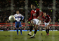 Photo: Paul Thomas.<br /> Manchester United v Middlesbrough. The FA Cup, Quarter Final replay. 19/03/2007.<br /> <br /> Cristiano Ronaldo scores for Utd.