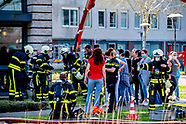 TILBURG - Fire in residential care complex with corona patients Tilburg, residents on the street A r