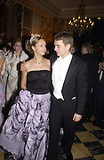Xenia Gorbachev and her escort, Kirill Solod. . Crillon Debutantes Ball 2002. Paris. 7 December 2002. © Copyright Photograph by Dafydd Jones 66 Stockwell Park Rd. London SW9 0DA Tel 020 7733 0108 www.dafjones.com