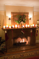 California: Napa City.  Fireplace during B&B Holiday Tour at Inn on First.  Photo copyright Lee Foster.  Photo # canapa106961