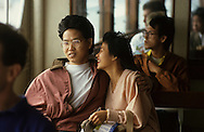 Riders enjoy the Star Ferry in Hong Kong .  The photograph is for a book project on Ferryboats..Photograph by Dennis Brack bb24