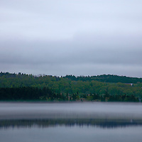 North America, Canada, Nova Scotia, Guysborough. Fog layer in Guysborough Harbour.