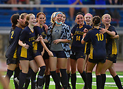 OFallon players are all smiles after they defeated Edwardsville in a girls soccer playoff game at OFallon High School in OFallon, IL on Tuesday June 8, 2021. <br /> Tim Vizer/Special to STLhighschoolsports.com.