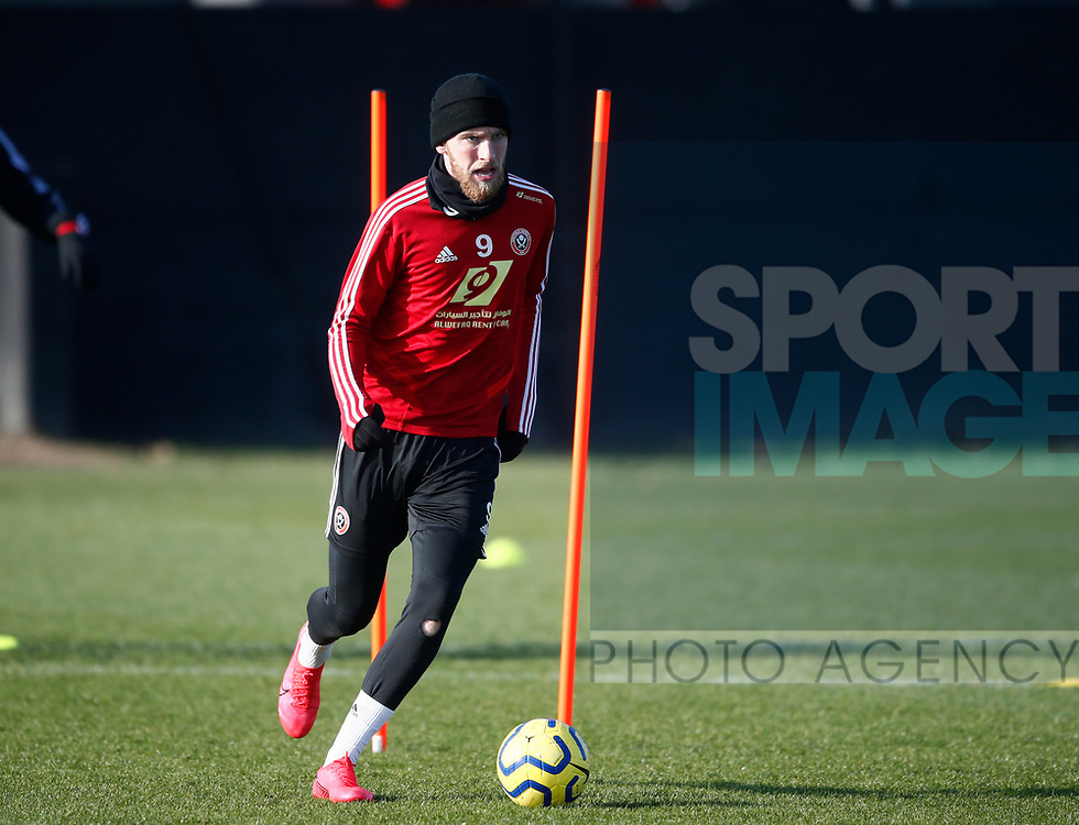 Oli McBurnie of Sheffield Utd during the Press Conference & Training at the Steelphalt Academy, Sheffield. Picture date: 7th February 2020. Picture credit should read: Simon Bellis/Sportimage