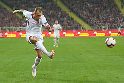 October 11, 2018 - Chorzow, Poland - Kamil Grosicki (POL) during the UEFA Nations league match between Poland v Portugal at the Slaski Stadium on October 11, 2018 in Chorzow  (Credit Image: © Foto Olimpik/NurPhoto via ZUMA Press)
