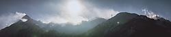 THEMENBILD - Panorama vom Kitzsteinhorn, den umliegenden Bergen und den Liftanlagen, aufgenommen am 16. Januar 2021 in Kaprun, Österreich // Panorama of the Kitzsteinhorn, the surrounding mountains and the lifts, Kaprun, Austria on 2021/01/16. EXPA Pictures © 2021, PhotoCredit: EXPA/ JFK