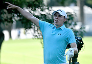 ST. LOUIS, MO - AUGUST 09: Matthew Fitzpatrick reacts after hitting his shot on the #11 tee during the first round of the PGA Championship on August 09, 2018, at Bellerive Country Club, St. Louis, MO.  (Photo by Keith Gillett/Icon Sportswire)